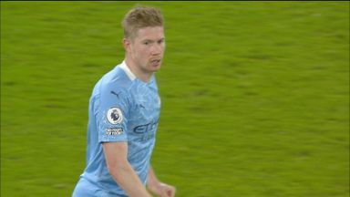 De Bruyne goes close (62)