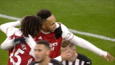 Aubameyang hits Arsenal's third! (77)