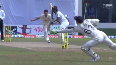 Buttler takes flying leg side catch!