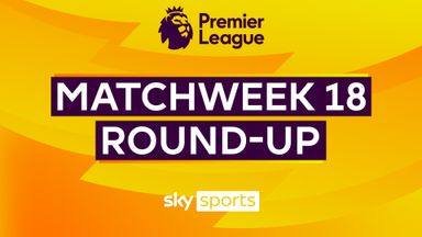Premier League Matchweek 18 round-up