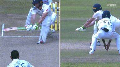 Buttler caught off his own boot!