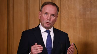Sir Simon Stevens, Chief Executive of NHS England during a media briefing on COVID-19 in Downing Street
