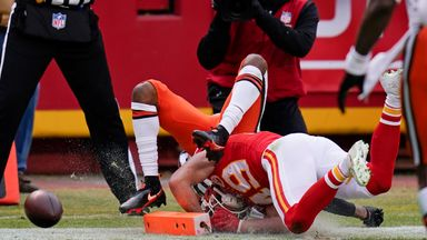 Browns fumble short of endzone!