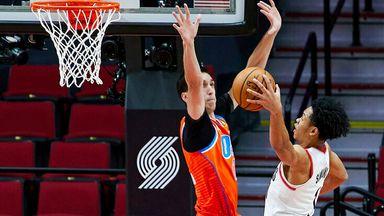 Simons' impressive baseline dunk