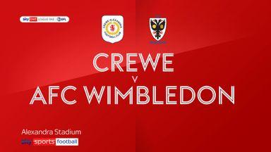 Crewe 1-1 AFC Wimbledon