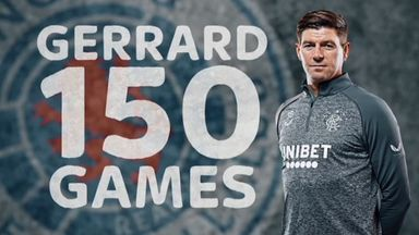 Gerrard reflects on 150 games at Rangers