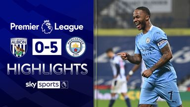 Man City hit five at West Brom