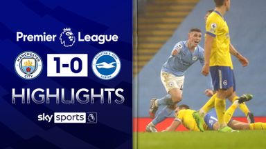 Foden dazzles as City edge past Brighton