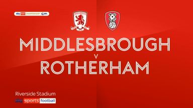 Middlesbrough 0-3 Rotherham