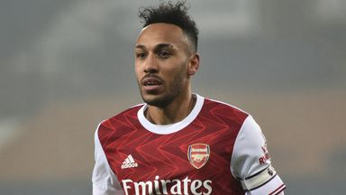 Arteta unsure when Auba will return