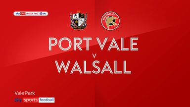 Port Vale 1-3 Walsall