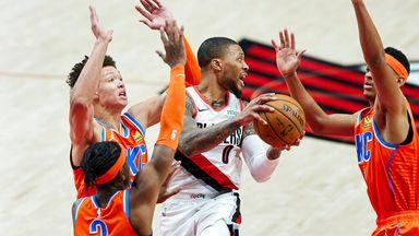 NBA Wk6: Thunder 125-122 Trail Blazers