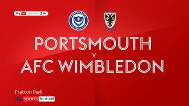 Portsmouth 4-0 AFC Wimbledon