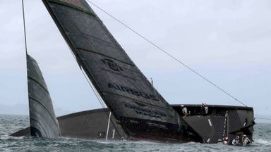 NYYC American Magic capsizes