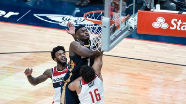 Zion, Ingram combine for 64 over Wizards