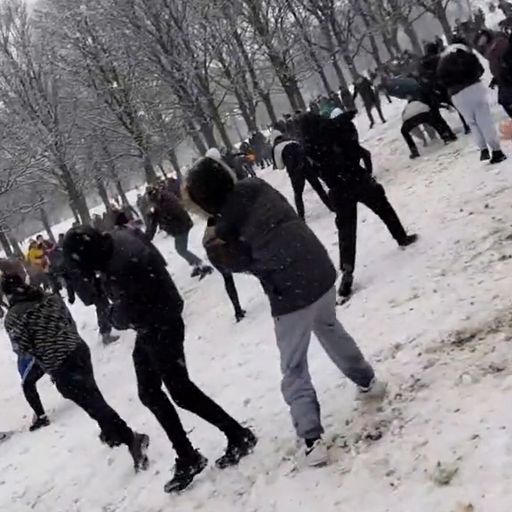 Fines for snowball fight
