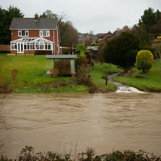 Sky News report on flooding along the Severn last year