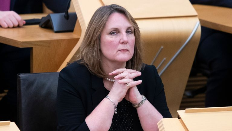 Scottish Conservative Michelle Ballantyne during First Minister's Questions at the Scottish Parliament in Edinburgh.
