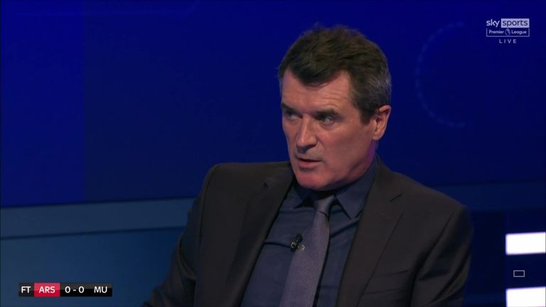 Roy Keane says Arsenal were there for the taking and that Manchester United lacked the belief they could win the game.