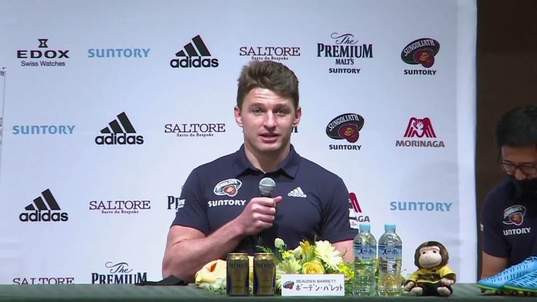 New Zealand's Beauden Barrett hopes the opportunity of playing as a No 10 at Suntory will help his chances of playing there for the All Blacks