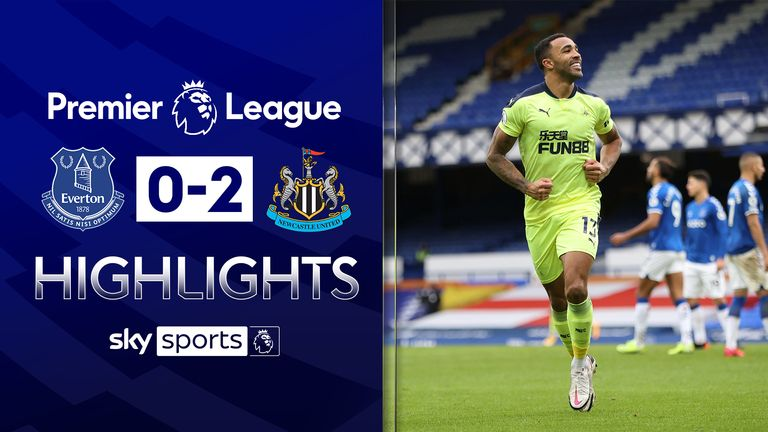 FREE TO WATCH: Highlights from Newcastle's win at Everton in the Premier League