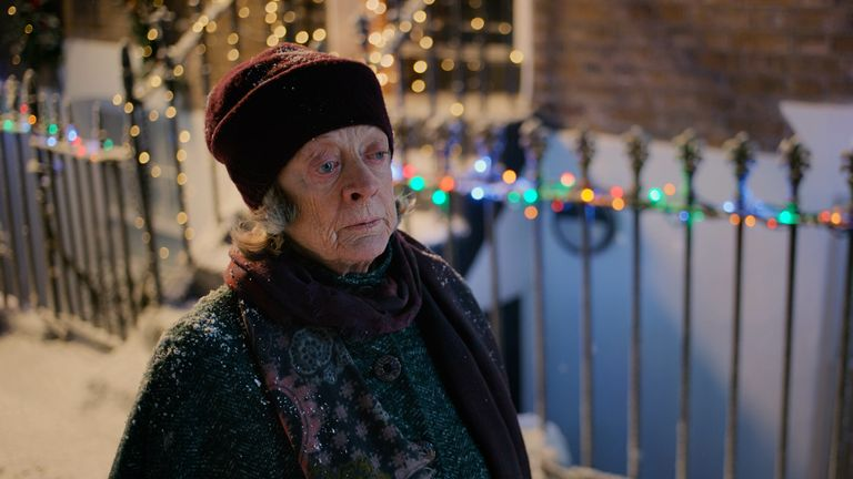 Maggie Smith is among the stars of Father Christmas origin story, A Boy Called Christmas. Pic: Sky UK