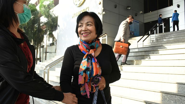 Anchan has been sentenced 43 years and 6 months today at Bangkok Criminal Court. Pic credit: AP images