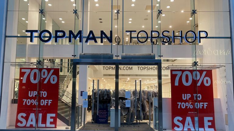 Stock is being cleared by staff at the High Wycombe branches of Topman and Topshop