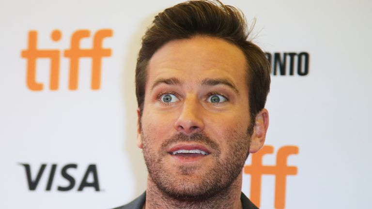 Armie Hammer has starred in films including The Social Network