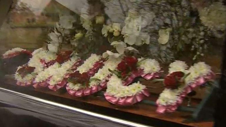 Barbara Windsor's coffin arrives at funeral service
