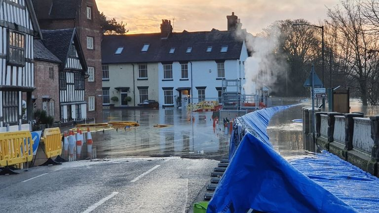 Flooding his hit the Worcestershire town of Bewdley. Pic: Environment Agency