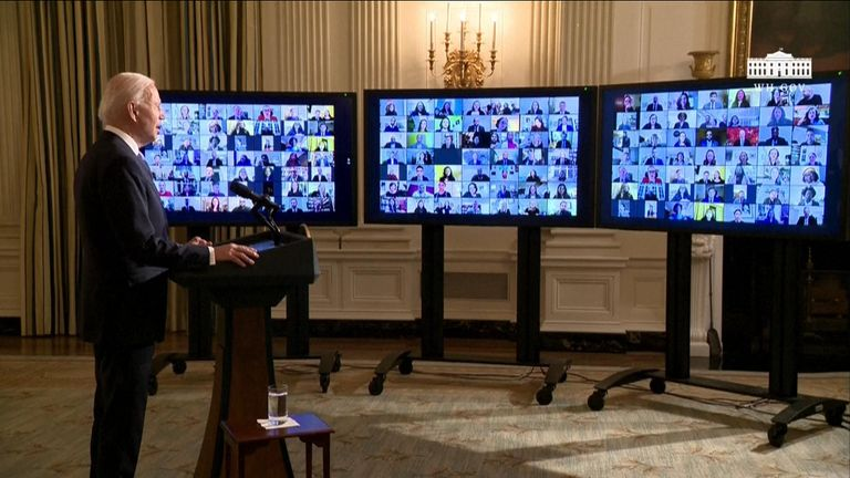 President Biden holds a 'virtual' swearing in ceremony for members of his administration