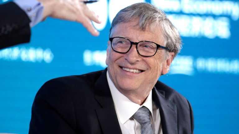 Bill Gates, Co-Chair of Bill & Melinda Gates Foundation, attends a conversation at the 2019 New Economy Forum in Beijing, China November 21, 2019