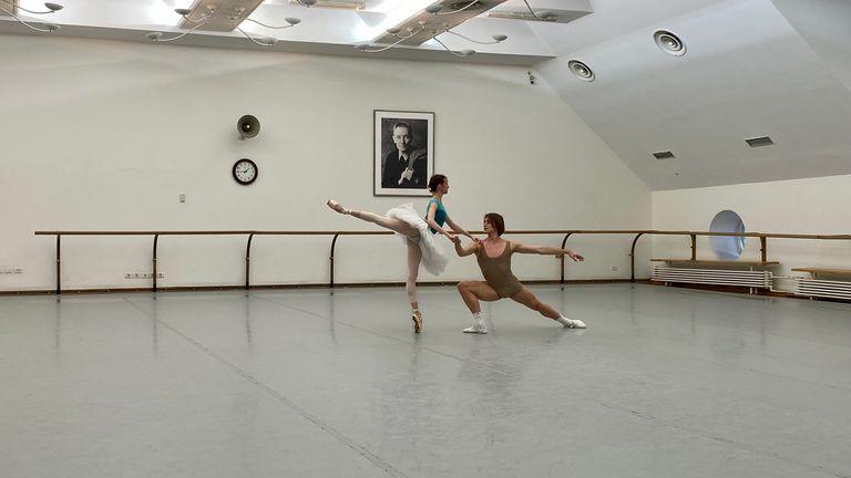 Ana and Denis rehearsing