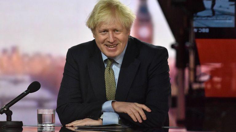 Boris Johnson on Andrew Marr. Pic: BBC/Reuters