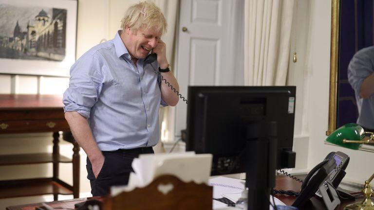 Boris Johnson has spoken to Joe Biden. Pic: Twitter/ Boris Johnson
