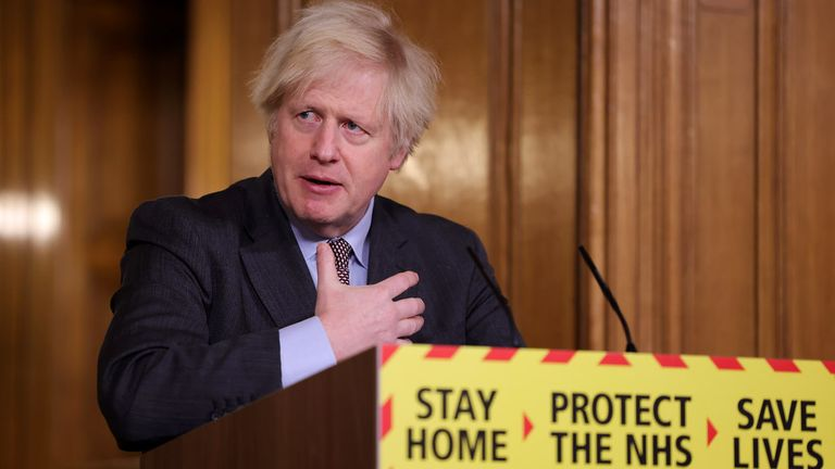 Boris Johnson. Pic: Number 10
