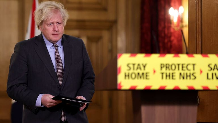 Boris Johnson Pic: Pippa Fowles/Downing St