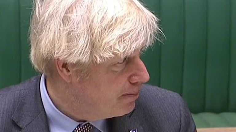 Boris Johnson mays out his plans regarding the reopening of schools to the House of Commons