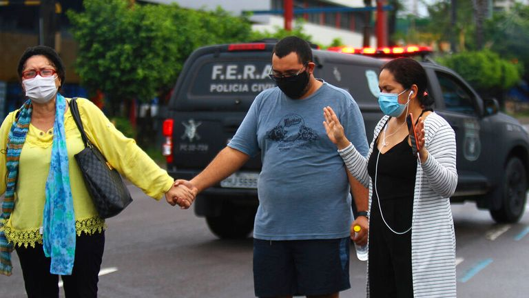 Families are distraught as the local health system collapses in Manaus