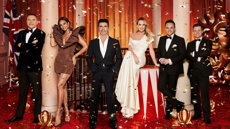 Britain's Got Talent judges David Walliams, Alesha Dixon, Simon Cowell and Amanda Holden, and hosts Ant and Dec. Pic: ITV/Shutterstock