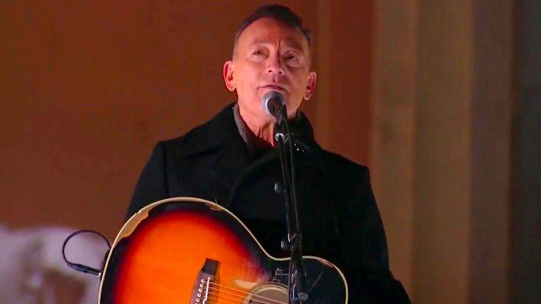 Bruce Springsteen. Pic: AP