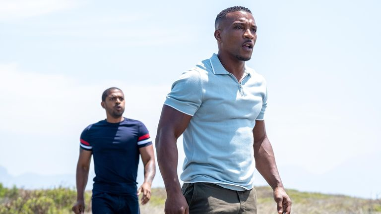 Noel Clarke and Ashley Walters in Bulletproof South Africa. Pic: Sky UK