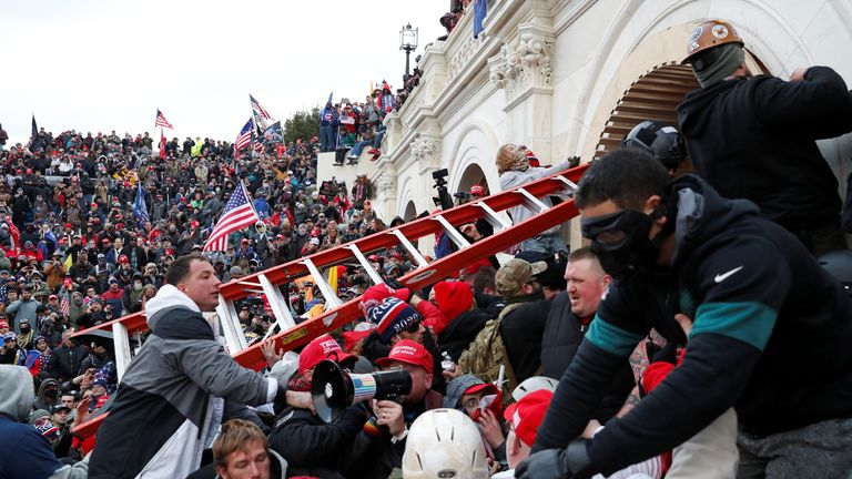 Donald Trump supporters storm the US Capitol