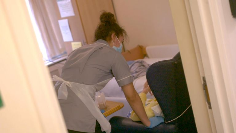 Staff are overwhelmed at Northfield nursing home in Sheffield.