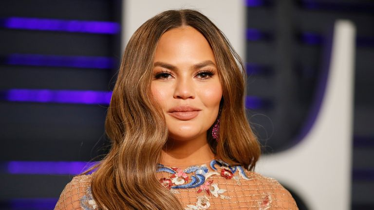 Chrissy Teigen at the Oscars Vanity Fair party in 2019. REUTERS/Danny Moloshok