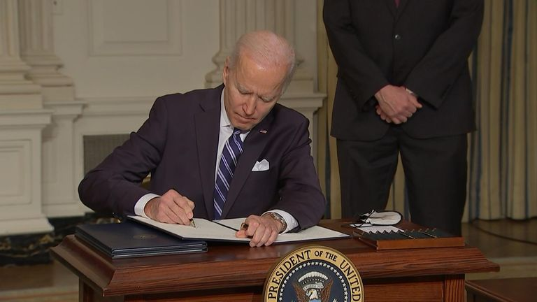 US president Joe Biden signed several executive orders relating to tackling climate change.