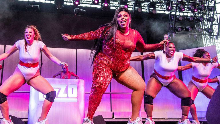 Lizzo performs at the Coachella Music & Arts Festival at the Empire Polo Club on Sunday, April 21, 2019, in Indio, Calif. (Photo by Amy Harris/Invision/AP)