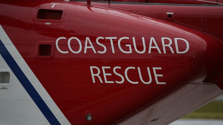 Caernarfon Coastguard and Rescue Helicopter Base in North Wales.