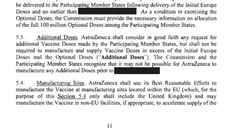 AstraZeneca commits to using its 'best reasonable efforts' to make its vaccine in the EU in the contract